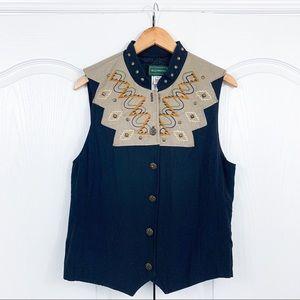 **TLC Needed** WillowBend Studded Button Up Vest